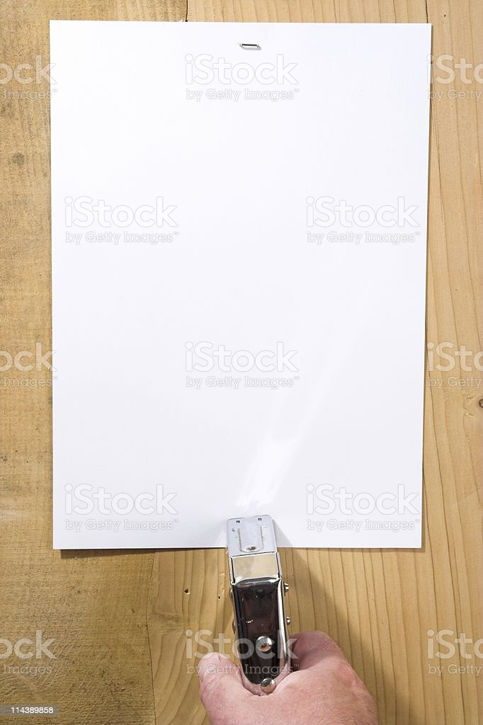 Poster With Stapler royalty-free stock photo