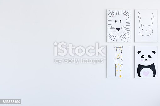 1061427386 istock photo Posters gallery in child's bedroom 855383190