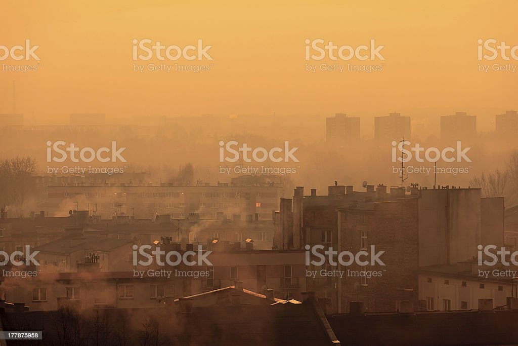 Postindustrial Cityscape stock photo