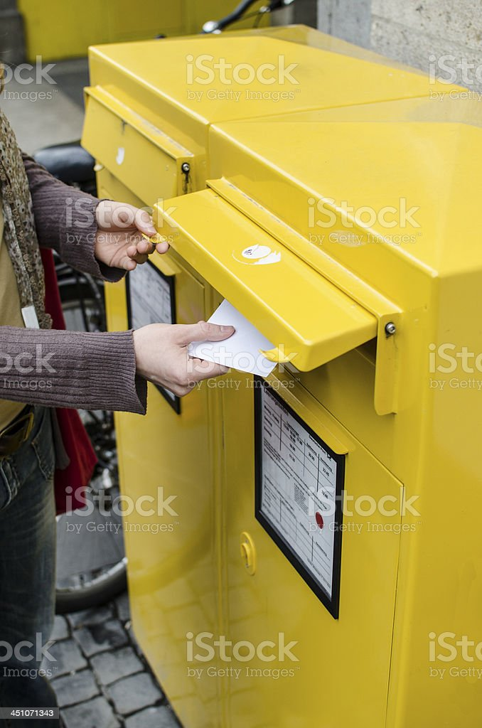 Posting a letter royalty-free stock photo