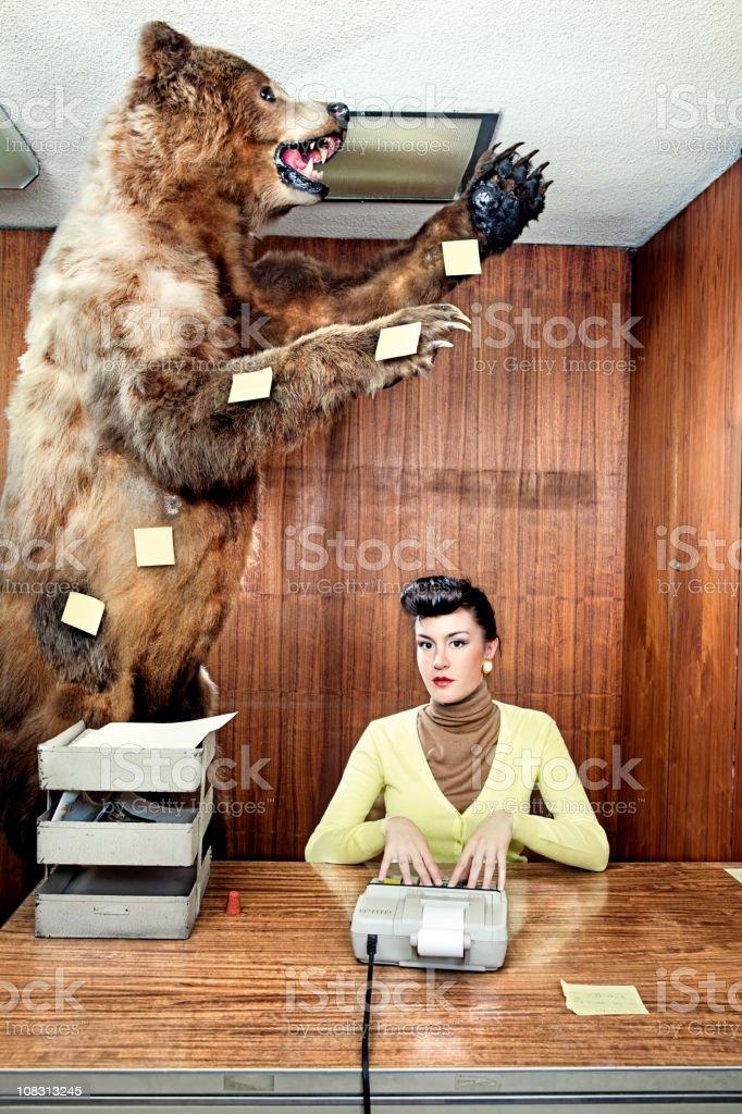 Post-it bear royalty-free stock photo