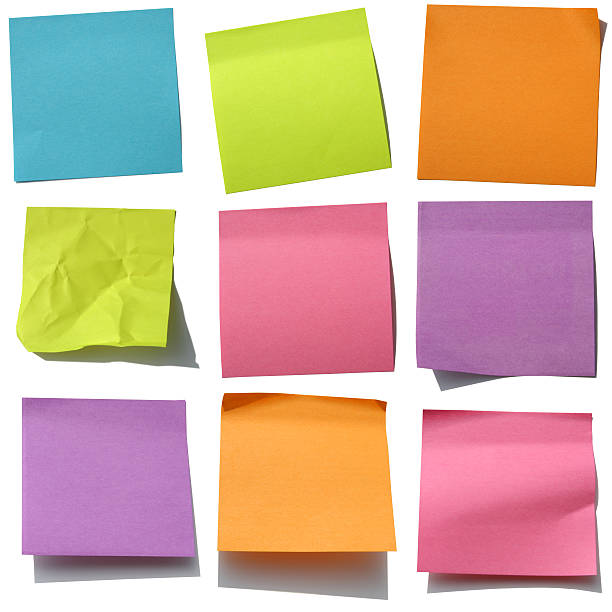 Post-it Heaven: Post it Notes on White stock photo