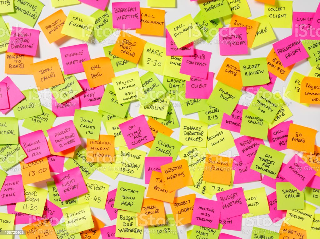 Postit Message Board royalty-free stock photo