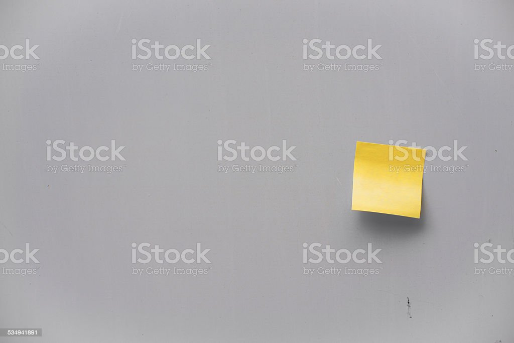 Post-it note on a wall stock photo