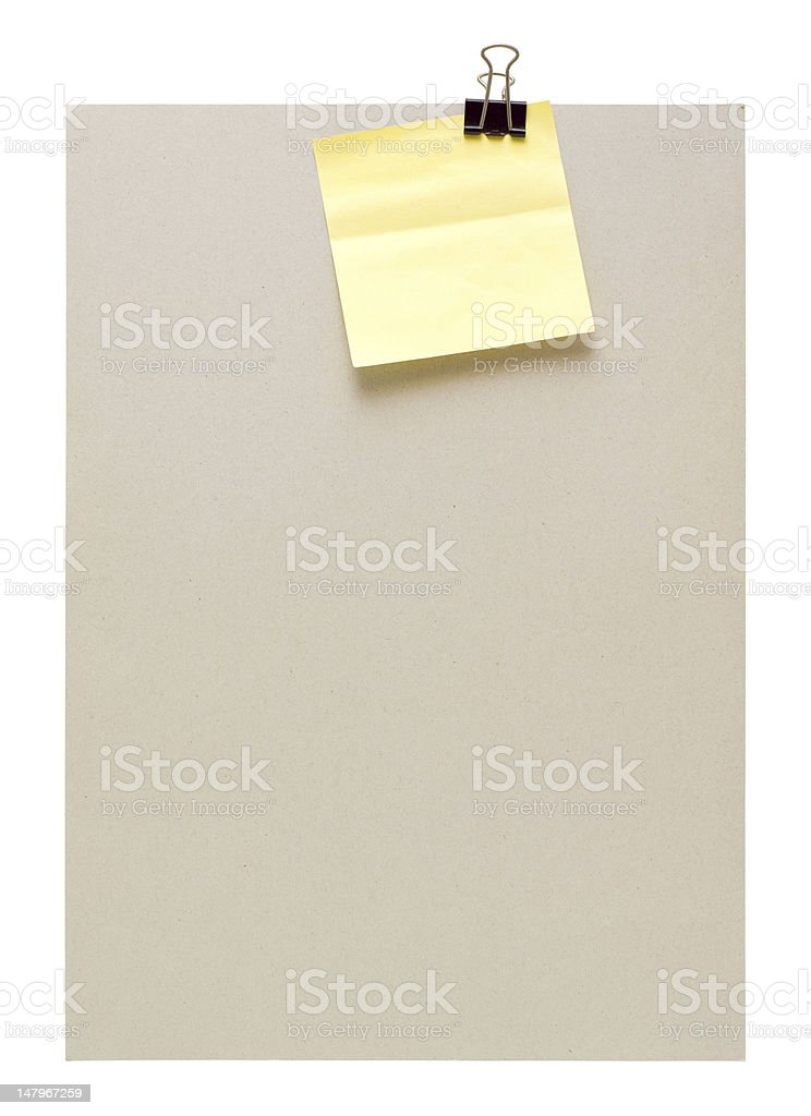 post-it note (Clipping path) (XXL) royalty-free stock photo