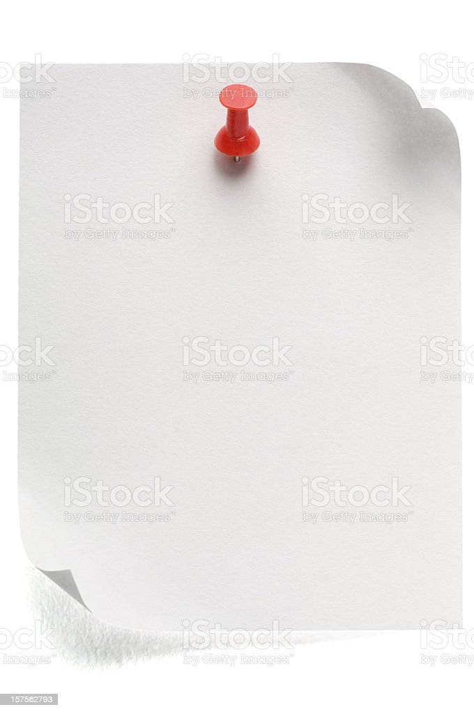 Postit Note (with clipping path) royalty-free stock photo