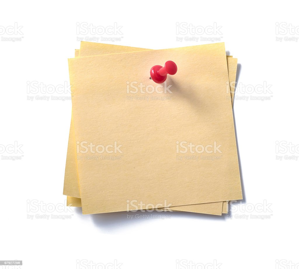 post-it note. royalty-free stock photo