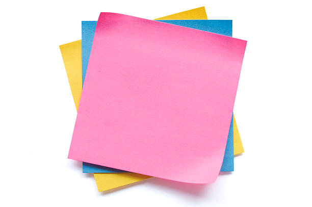 Postit notes isolated on white stock photo