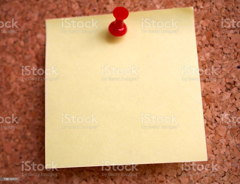 Postit on a everyday corkboard royalty-free stock photo