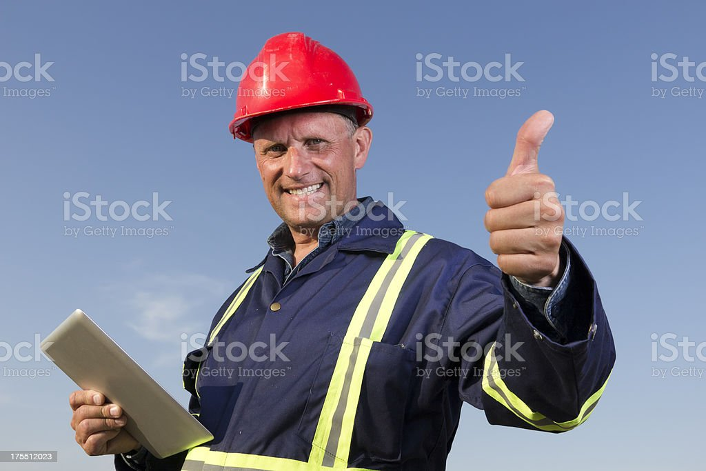 Postive Worker royalty-free stock photo
