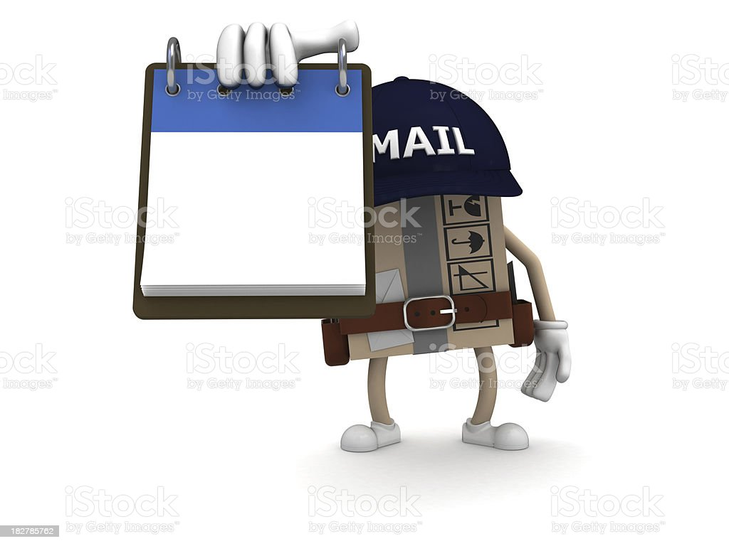 Postman royalty-free stock photo