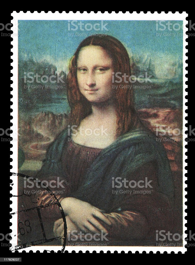Postmark - Mona Lisa royalty-free stock photo