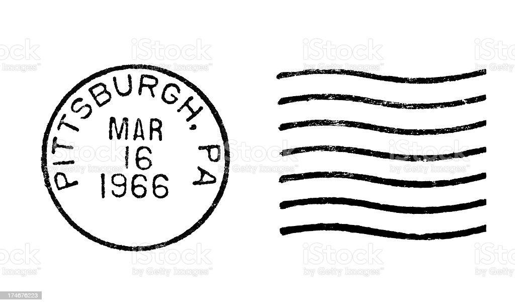 Postmark Pittsburgh PA stock photo