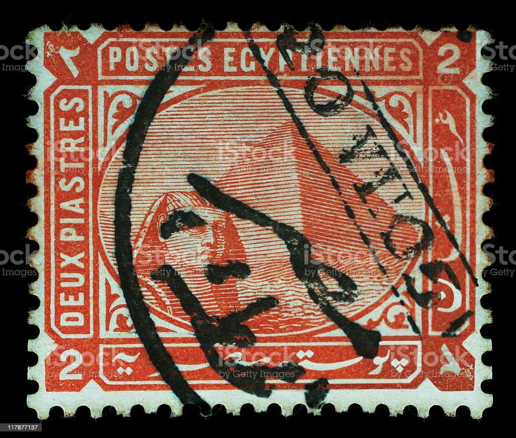 Postmark - Pyramid royalty-free stock photo