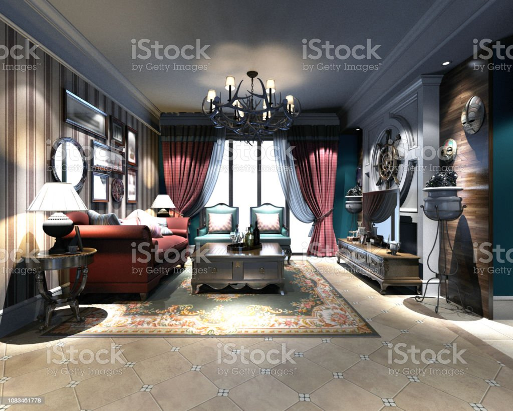 Postmodern American House Interior Stock Photo Download Image Now Istock