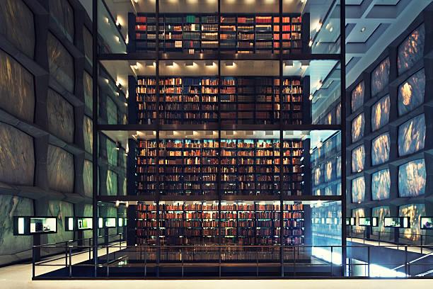 posmoderno biblioteca - biblioteca fotografías e imágenes de stock