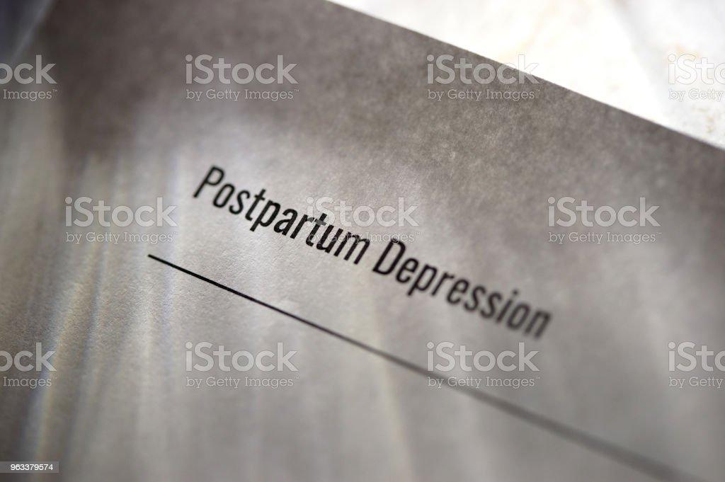 förlossningsdepression - Royaltyfri Depression Bildbanksbilder