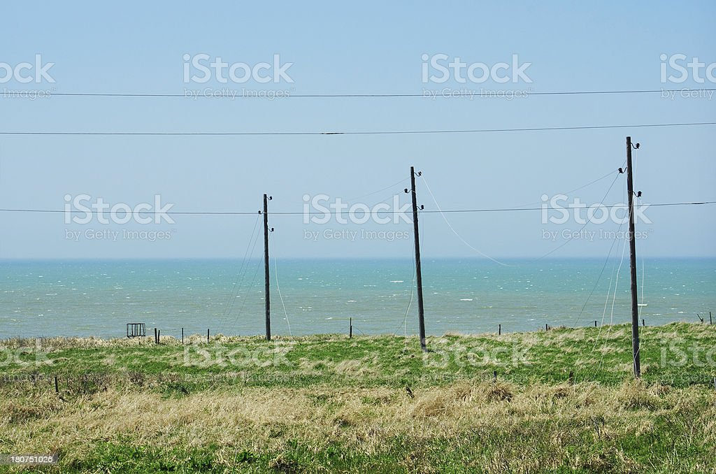 Posts sea royalty-free stock photo