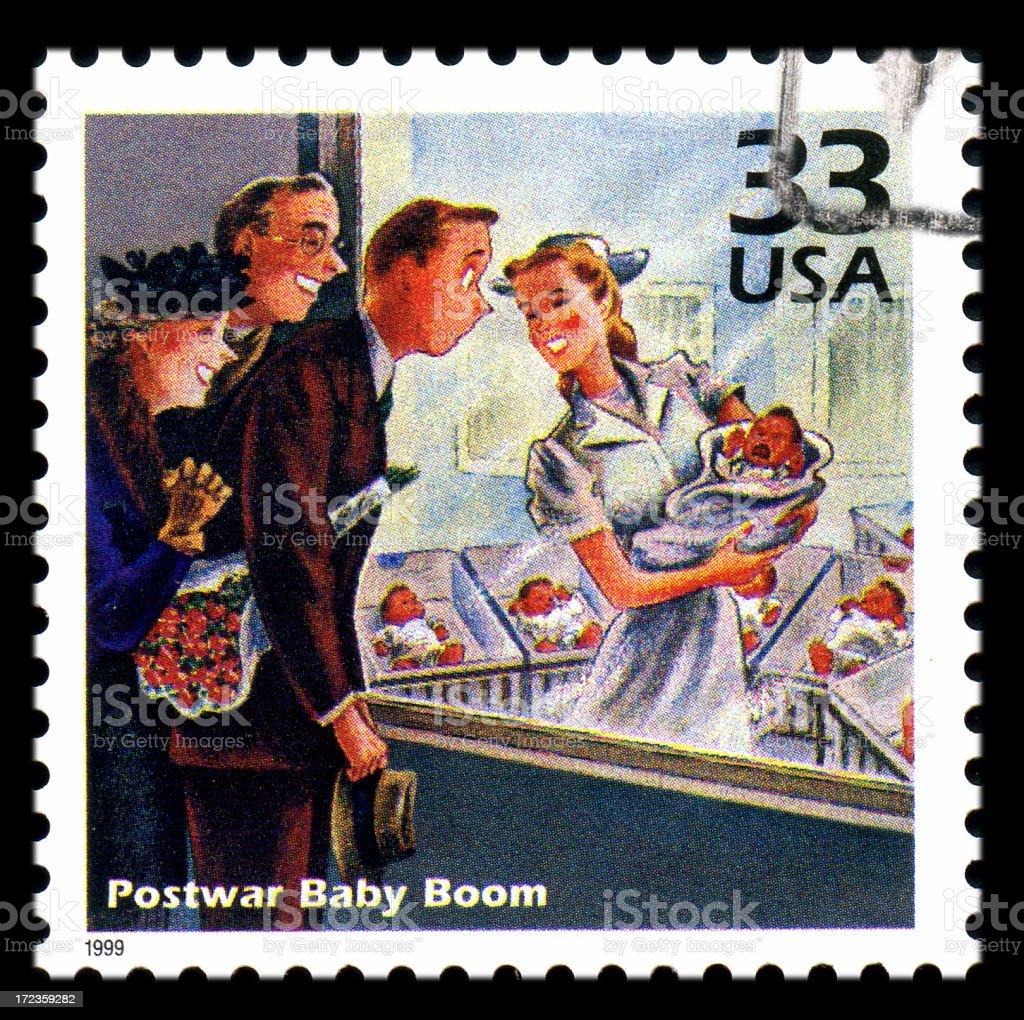 Postwar Baby Boom royalty-free stock photo