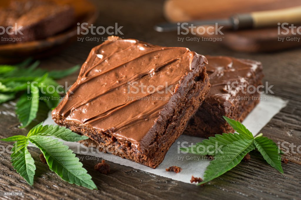 Pot Brownies stock photo