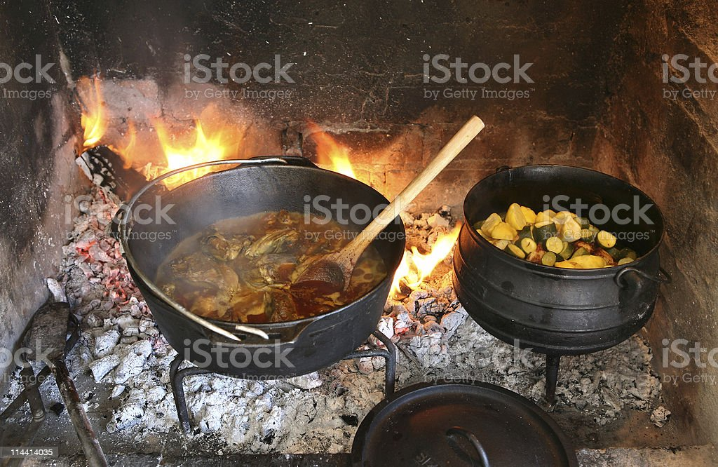 pot cooking royalty-free stock photo