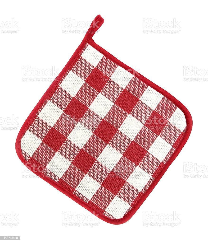 Pot holder lovely red and white stock photo
