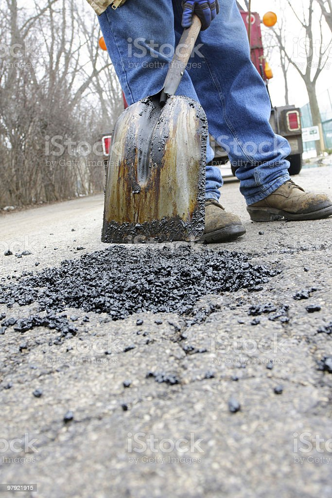 Pot Hole stock photo