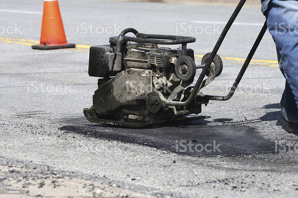 Pot Hole Repair, Series stock photo