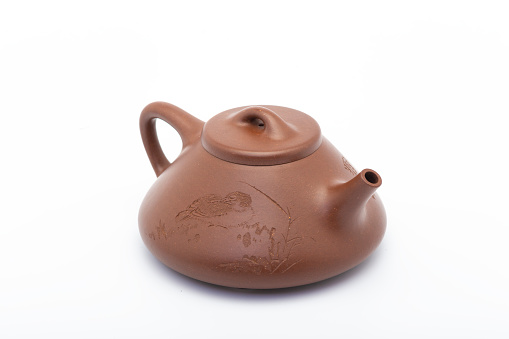 Pot made of purple clay