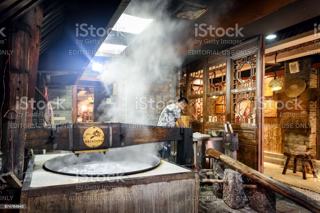 Pot Of Boiling Water In Authentic Kitchen Of Chinese Restaurant Stock Photo Download Image Now Istock