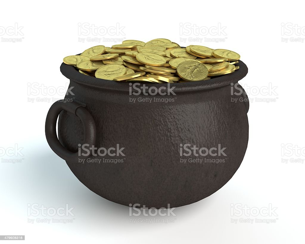 Pot of Gold stock photo