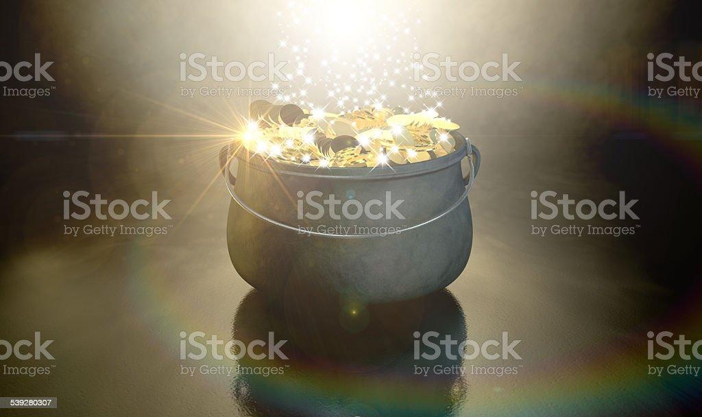 Pote de oro - foto de stock