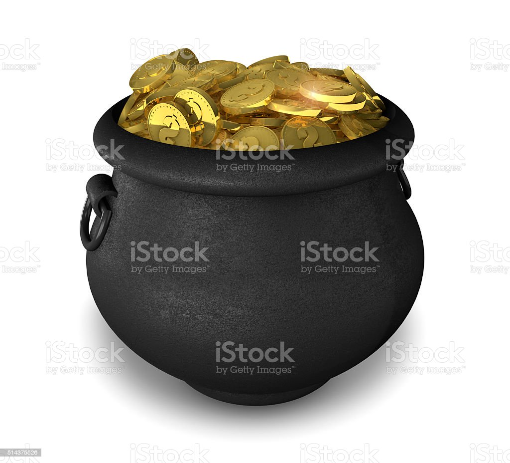 Pot of Gold -  St Patrick's Day stock photo
