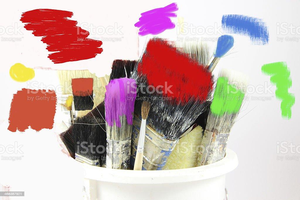 Pot of Many Colours stock photo
