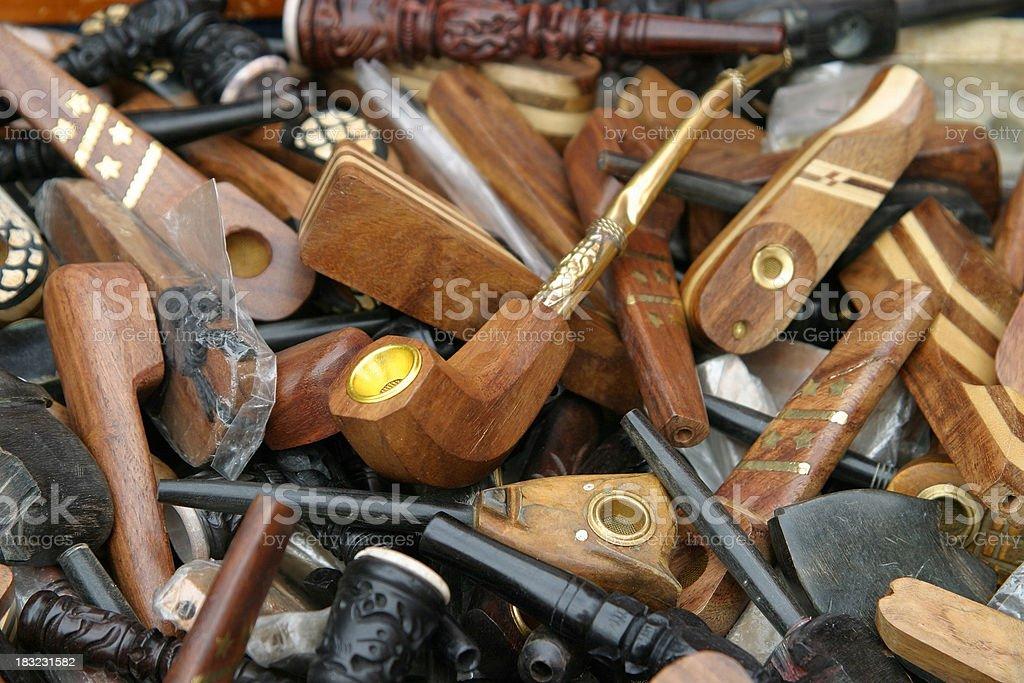 Pot pipes royalty-free stock photo