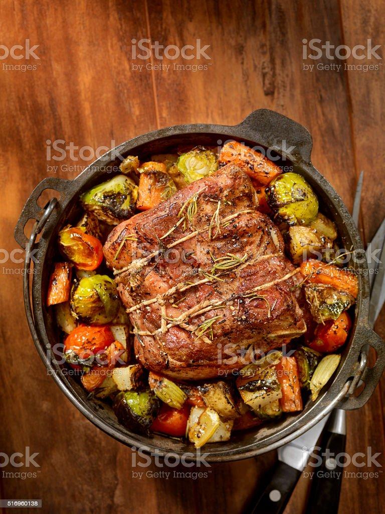 Pot Roast Dinner stock photo