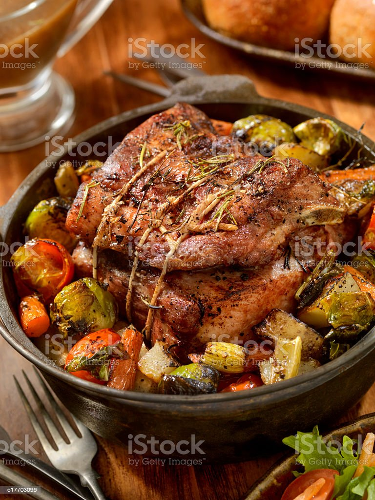 Pot Roast Dinner stock photo