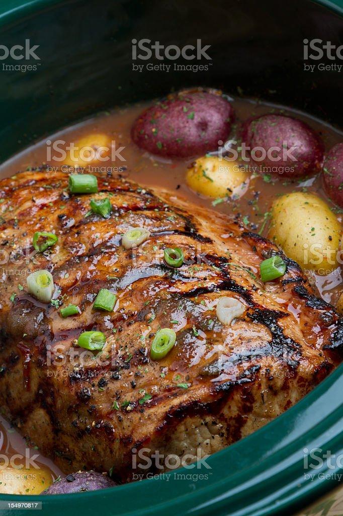 Pot Roast with Potatoes stock photo