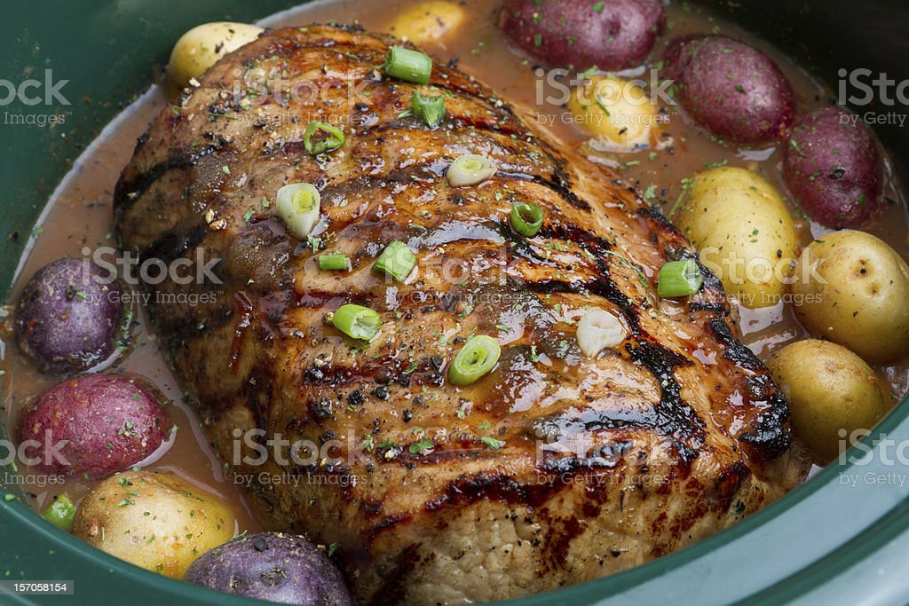 Pot Roast with Potatoes royalty-free stock photo