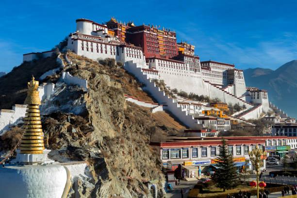 Potala Monastery in Lhasa, Tibet Autonomous Region, China stock photo