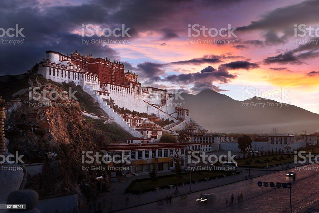 Potala Palace at dawn royalty-free stock photo
