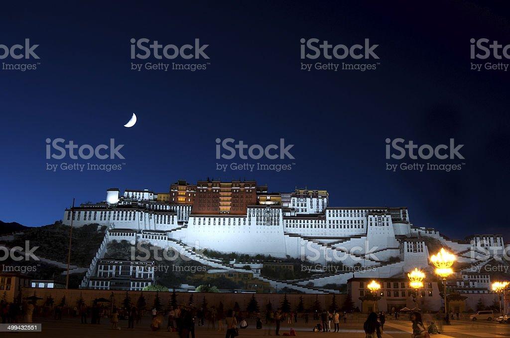 Potala Palace at night stock photo
