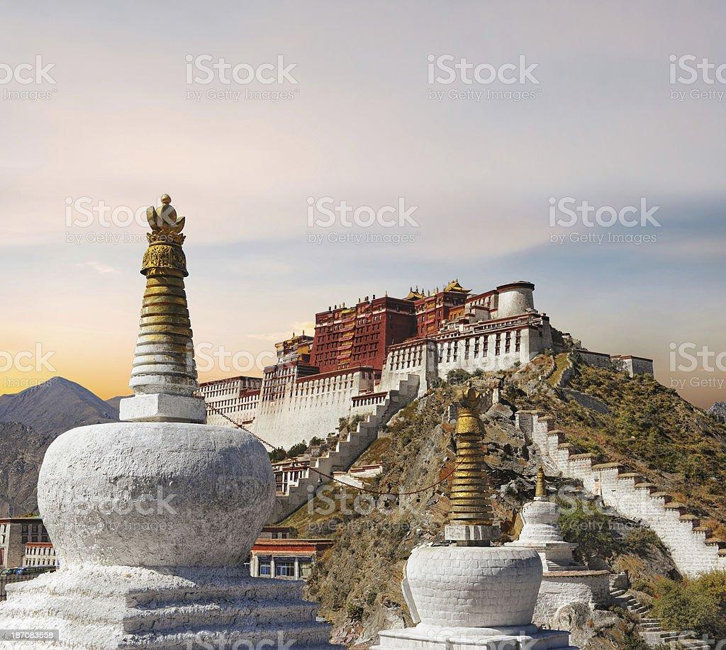 Potala Palace in Lhasa - Tibet stock photo
