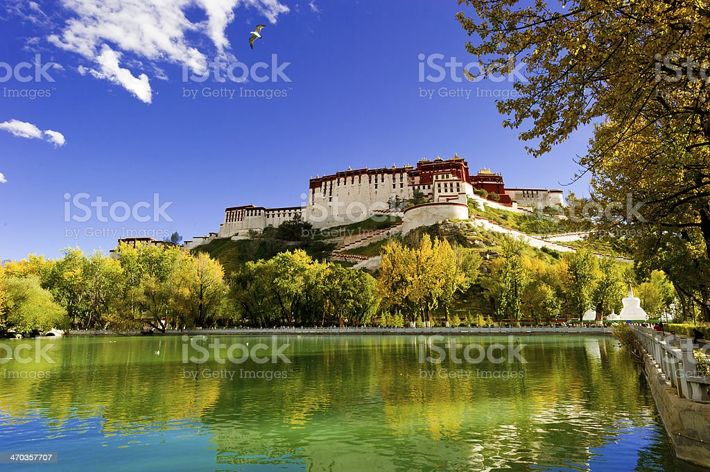 potala palace,in Tibet of China stock photo