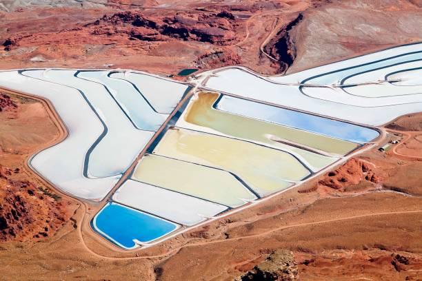 Potash Mineral Salt Ponds stock photo