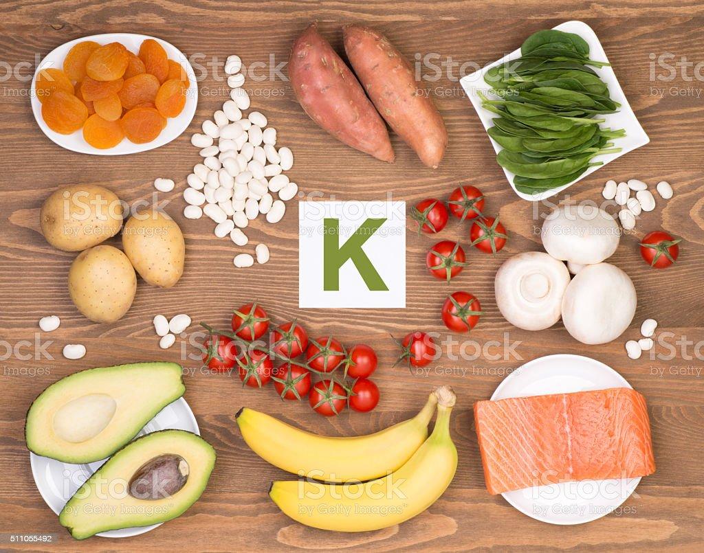 Potassium containing foods stock photo