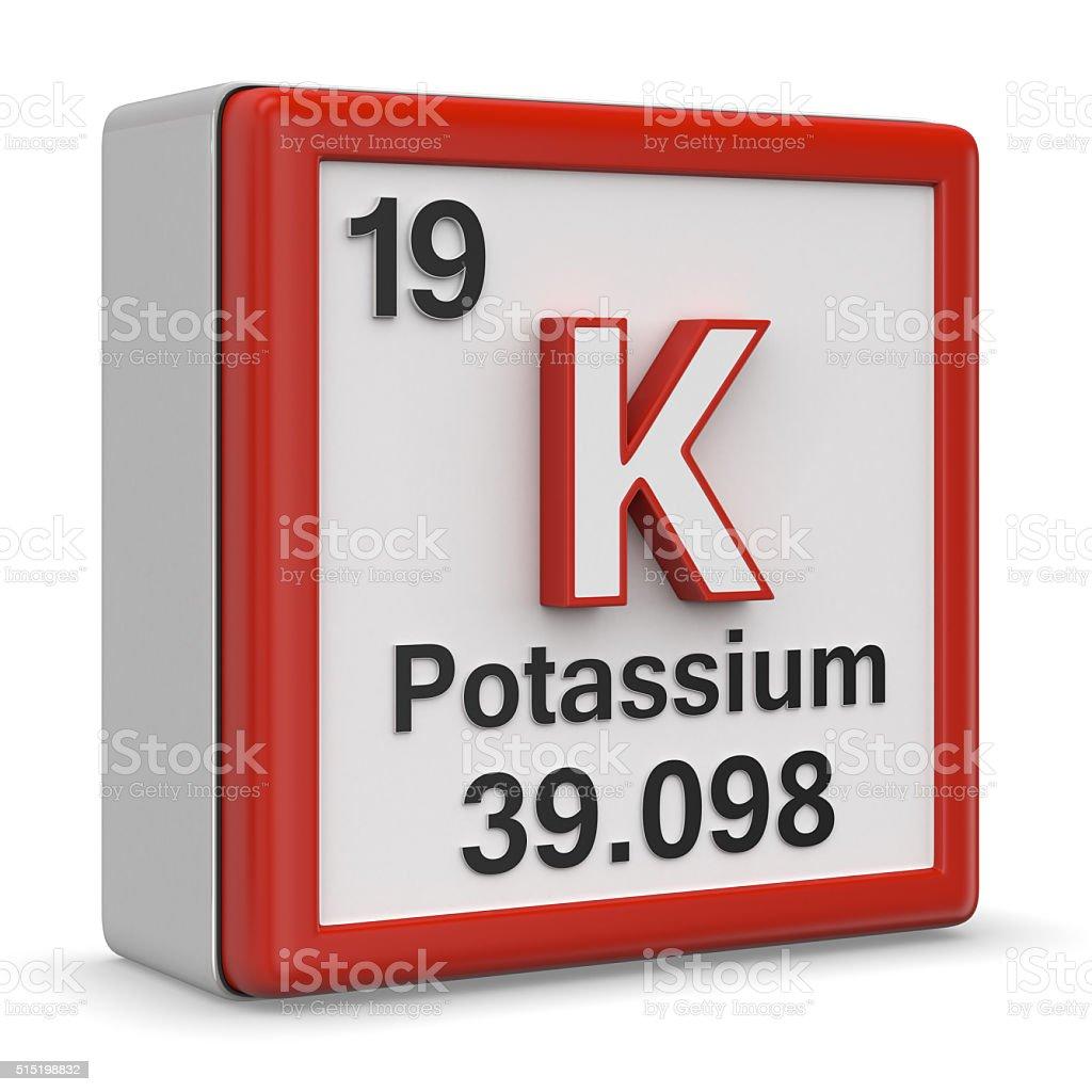 Potassium element stock photo