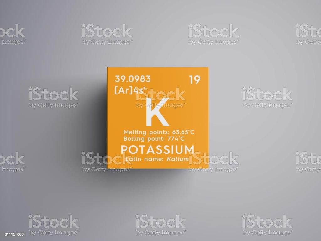 Potassium kalium alkali metals chemical element of mendeleevs alkali metals chemical element of mendeleevs periodic table royalty urtaz Choice Image