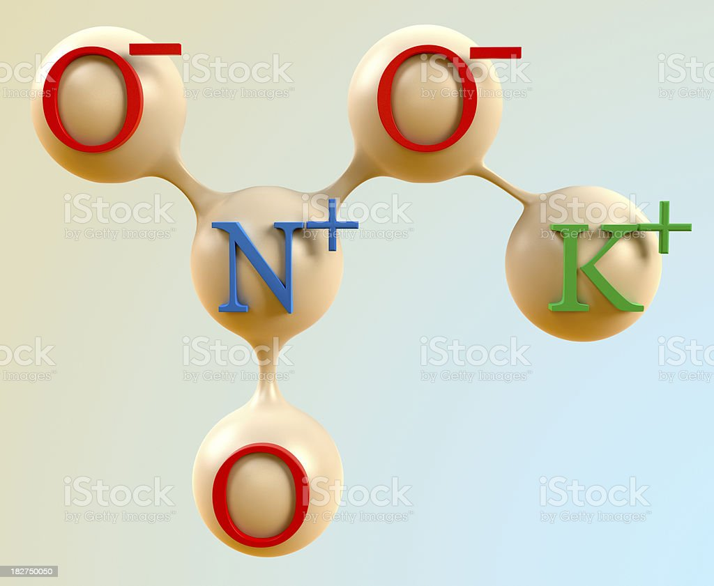 Kno3 Potassium Nitrate Saltpeter Stock Photo More Pictures Of Atom