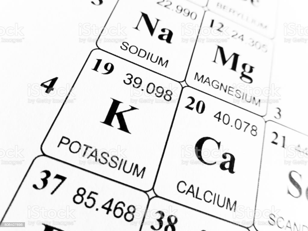Potassium on the periodic table of the elements stock photo more potassium on the periodic table of the elements royalty free stock photo urtaz Images